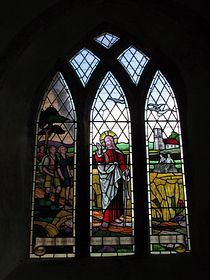 Ramblers stained glass window at Walesby Church © Les and Angela Mayne