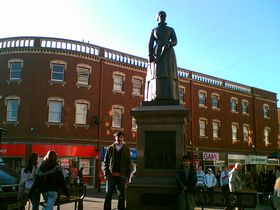 Sister Dora's statue in town centre © Moonis Hussain