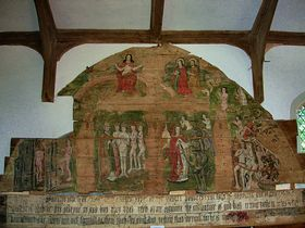The Wenhaston Doom (medieval wall painting) © Peggy Cannell