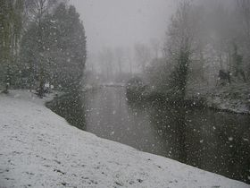 River at West Row in snow © Patricia AlcalaGustilo