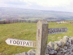 A signpost of a walk leading to West Witton.  © Alison Bishop