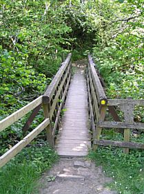 Slit Wood Wooden Bridge Westgate County Durham © Paul Craig