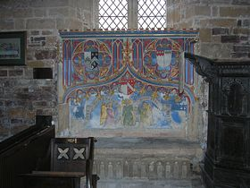 15th Century wall painting © Rod Morris