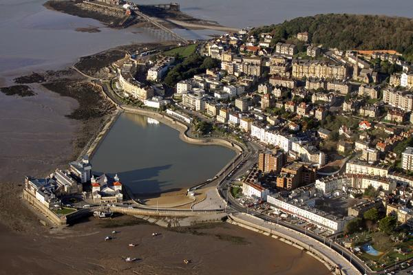 Aerial view of Weston-Super-Mare