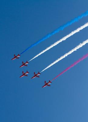 The Red Arrows at the Weston Air Festival