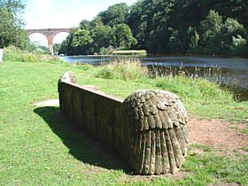 Stone Seat and Viaduct, Wetheral © Ros Ormiston