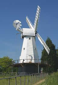 Woodchurch Windmill stands above the village © Paul Daniell