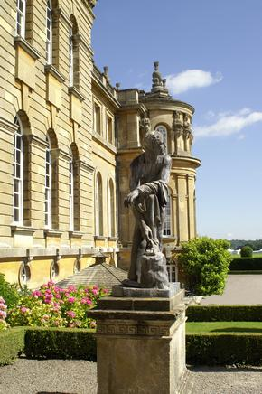 The sculpture on the west facade of the beautiful Blenheim Palace