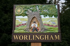 Worlingham Village sign © Beverly Ismailugaj