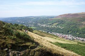 Lower Ystalyfera taken from the Darren mountain © Mr Lyn Jones
