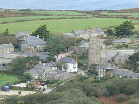 The Village and Church Zennor © magda de smet